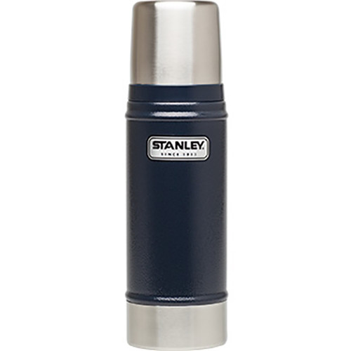 Stanley Classic 16 oz Vacuum Bottle (Hammertone Navy)