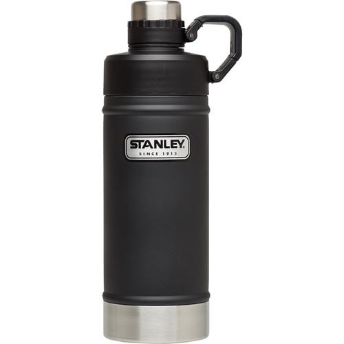 Stanley Classic Vacuum Water Bottle (18 fl oz, Matte Black)