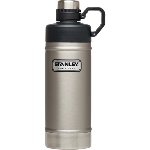 Stanley Classic Vacuum Water Bottle (18 fl oz, Stainless Steel)