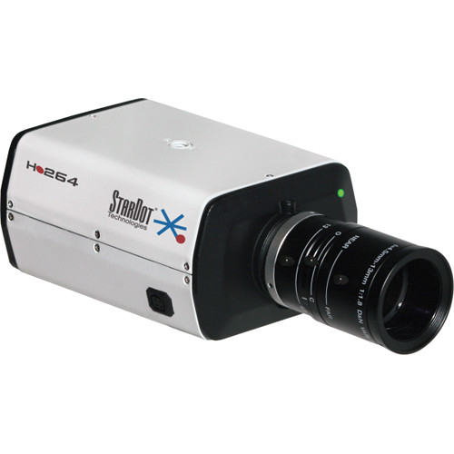 STARDOT NetCam SC SDH Series SDH1000BN H.264 10MP Hybrid IP True Day/Night Box Camera with 3.9-10mm Lens