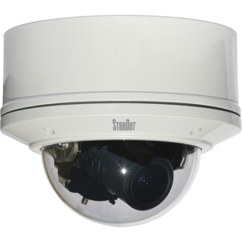 STARDOT NetCam SC SDH Series SDH300V H.264 3MP IP Color Indoor/Outdoor Vandal-Resistant Dome Camera with 4-12mm Lens