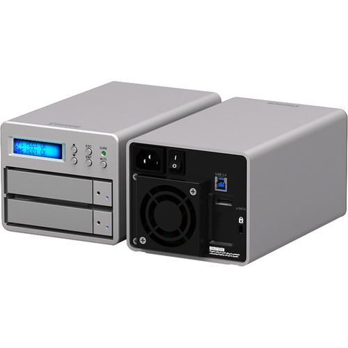 STARDOM SOHORAID SR2-SB3+ 2-Bay USB 3.0 RAID Enclosure