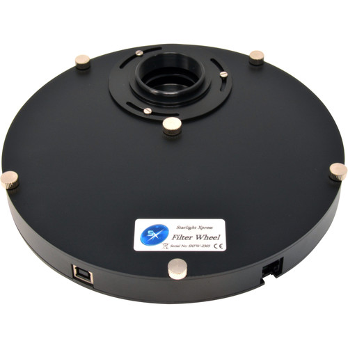 Starlight Xpress USB Filter Wheel with 7-Position 36mm Round/Unmounted Filter Carousel (Female/Male T-Mounts)