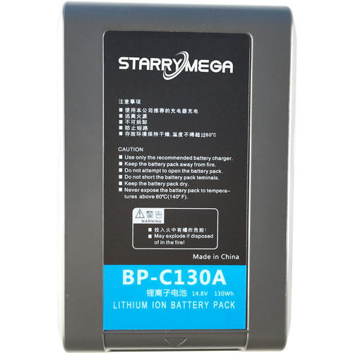 StarryMega 130Wh 14.8V Anton Bauer Gold Mount Battery