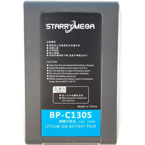 StarryMega 130Wh 14.8V Sony V-Mount Battery