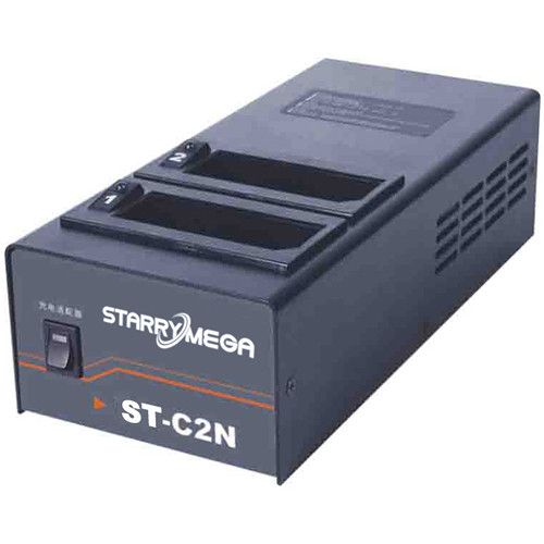 StarryMega Two-Position Simultaneous Charger for NP-1 Type Batteries