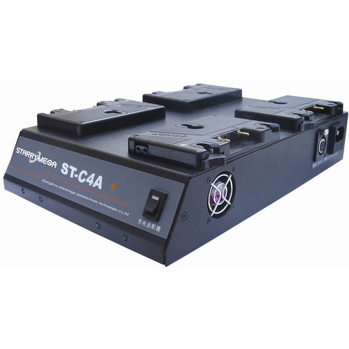 StarryMega 4-Bay Simultaneous Charger for Gold Mount Batteries