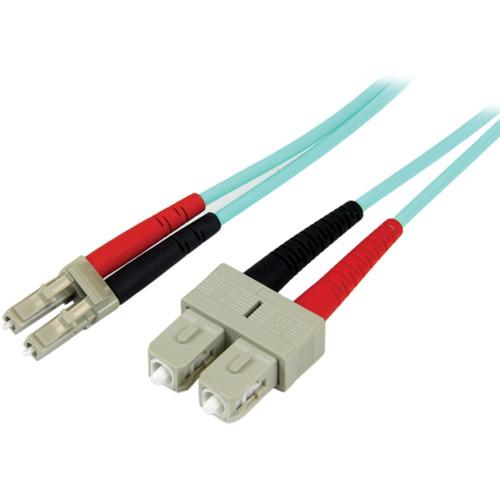 StarTech 3.3' (1m) 10 Gb Multimode 50/125 Duplex LSZH Fiber Patch Cable LC - SC