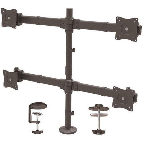 """StarTech Desk Mount Steel Quad Monitor Arm for 13"""" to 27"""" Monitors"""