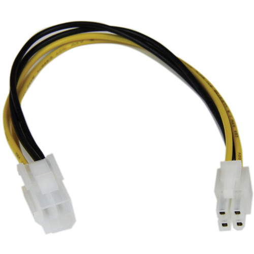 """StarTech ATX12V 4 Pin Male/Female P4 CPU Power Extension Cable (8"""")"""