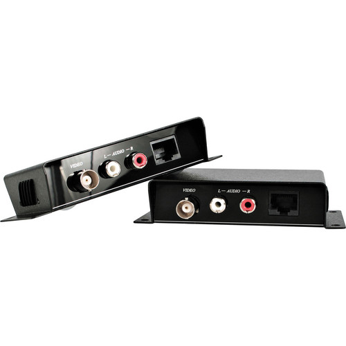 StarTech Composite Video Extender Over Cat5 with Audio (Black)