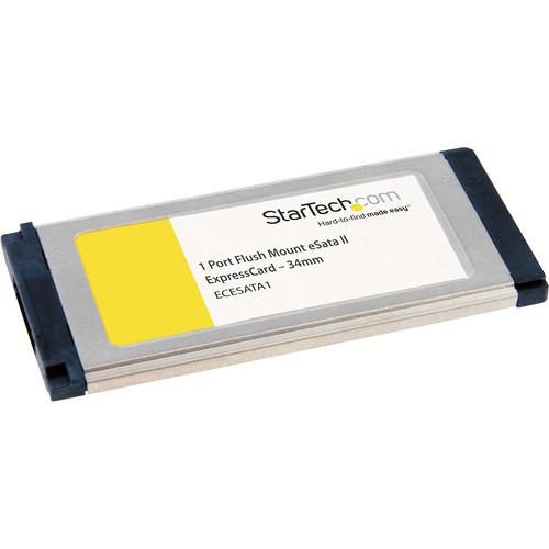 StarTech 1-Port Flush Mount ExpressCard /34mm eSATA II Controller Adapter Card
