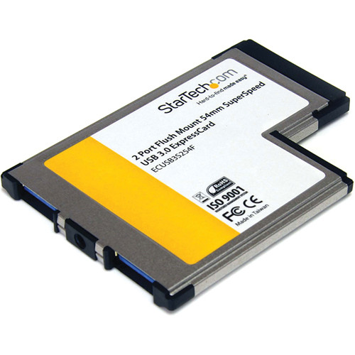 StarTech 2-Port ExpressCard 54mm USB 3.0 Card Adapter with UASP