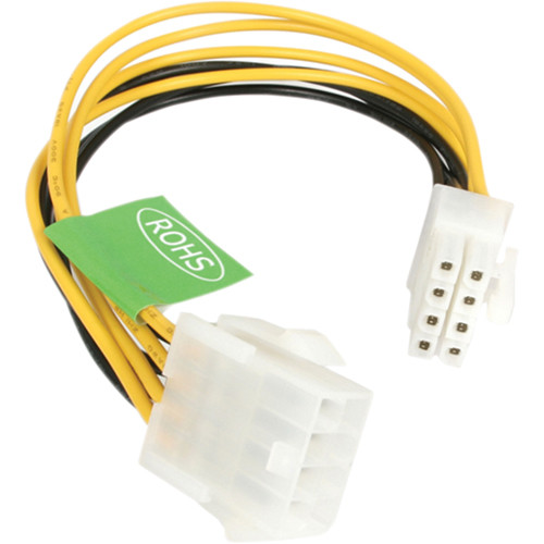"StarTech EPS 8 Pin Power Extension Cable (8"")"