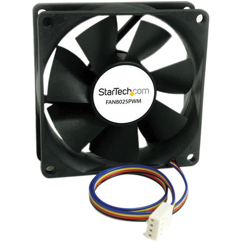 StarTech 80mm Computer Case Fan with PWM Connector (Black)