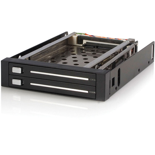 "StarTech 3.5"" SATA Hot-Swap Backplane Bay for Dual 2.5"" HDD"