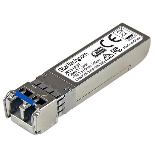 StarTech 10 Gigabit Fiber SFP+ MM LC with DDM Transceiver Module - HP J9151A Compatible (Up to 6.2 mi)