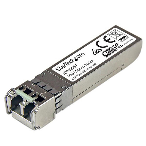 StarTech 10 Gigabit Fiber SFP+ MM LC with DDM Transceiver Module - HP JD092B Compatible (Up to 984')