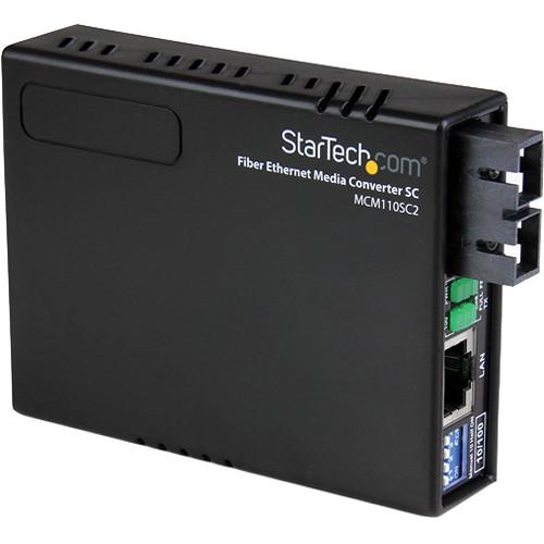 StarTech 10/100 Multi-Mode Fiber to Ethernet Media Converter (Black)
