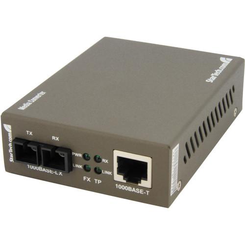 StarTech Gigabit Single-Mode Fiber Ethernet Media Converter (9.3 miles)