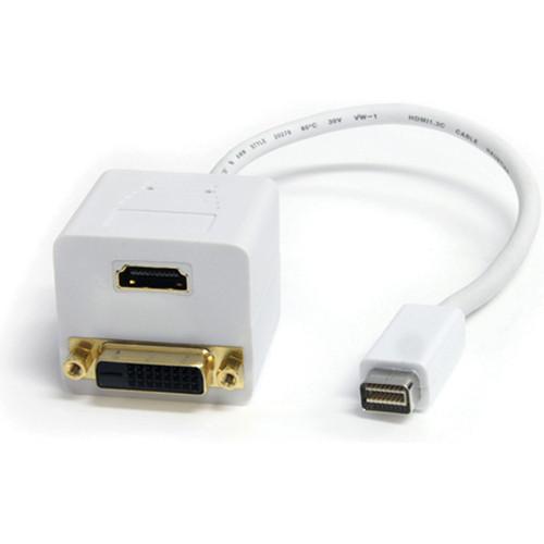 StarTech Mini-DVI Male to DVI-D & HDMI Female Splitter Cable (1', White)