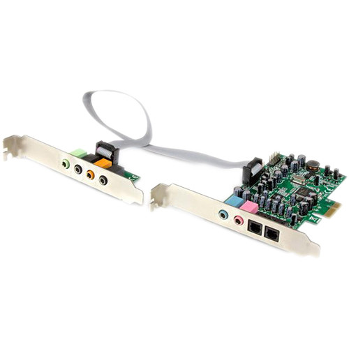 StarTech 7.1-Channel 24-bit 192 kHz PCIe Sound Card with Header Bracket & 10-Pin Cable