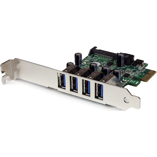StarTech 4-Port SuperSpeed USB 3.0 PCIe Card with SATA Power Connector & UASP
