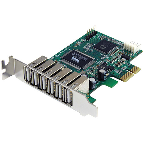 StarTech 7-Port PCIe Low Profile USB 2.0 Adapter Card