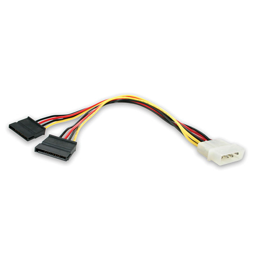 StarTech LP4 Male to 2x SATA Power Cable Y Adapter (1')