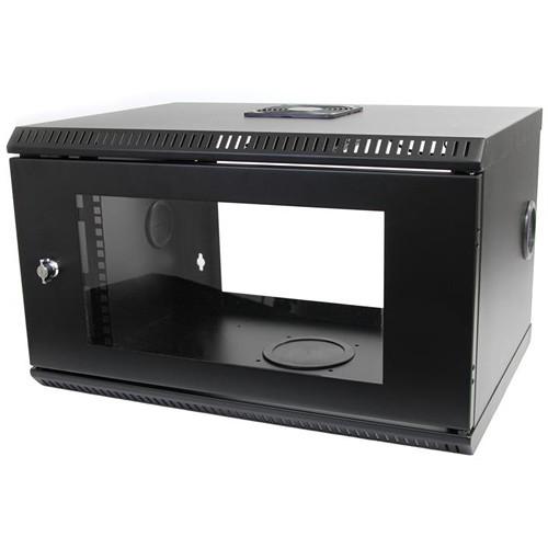 """StarTech 6 RU 19"""" Wall Mount Server Rack Cabinet with Acrylic Door (Black)"""