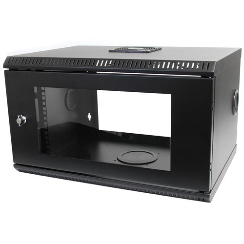 "StarTech 6 RU 19"" Wall Mount Server Rack Cabinet with Acrylic Door (Black)"