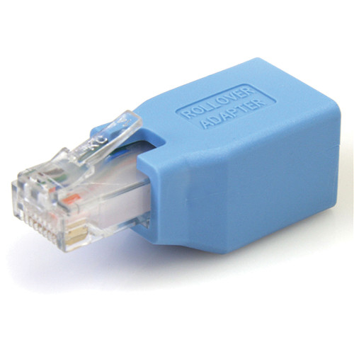 StarTech RJ-45 Male to Female Rollover Ethernet Cable Adapter (Blue)