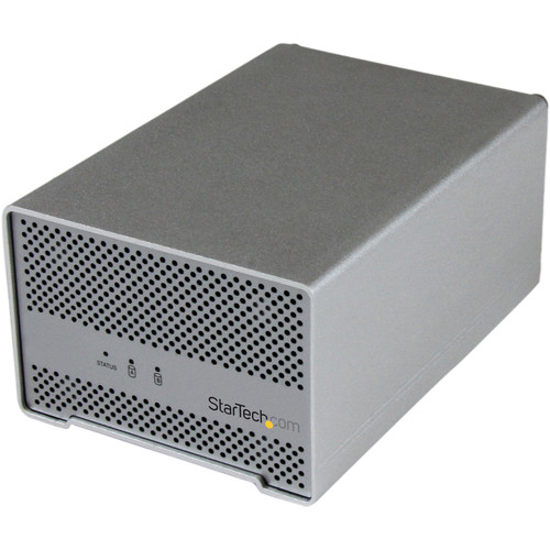 "StarTech Dual Bay Thunderbolt 2.5"" Hard Drive Enclosure"