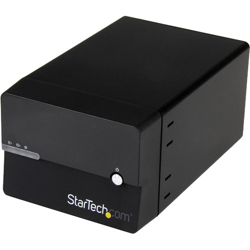 StarTech S352BMU3N Dual Bay Gigabit NAS RAID Enclosure with WebDAV and Media Server