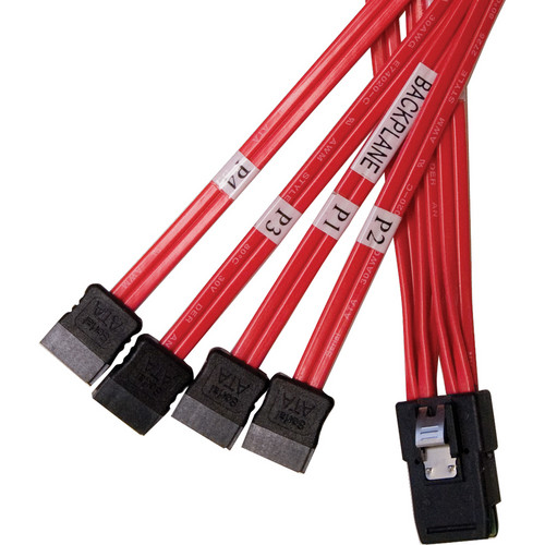 StarTech 39.4' (1m) SFF-8087 SATA/SAS to 4 x SATA/SAS Cable (Red)