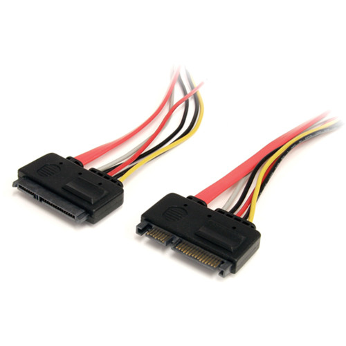 """StarTech 12"""" (30.48cm) 22-Pin SATA Power & Data Extension Cable (Red)"""