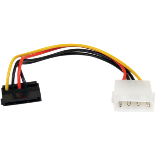 """StarTech 4 Pin Molex to Right-Angle SATA Power Cable Adapter (6"""")"""