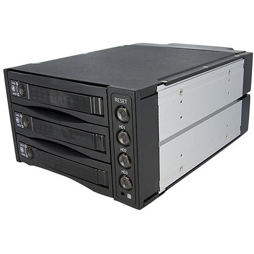 StarTech 3-Bay SATA/SAS Hard Drive Backplane RAID Mobile Rack (Black)