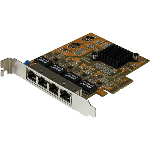 StarTech ST1000SPEX43 4-Port PCIe Gigabit Network Adapter Card