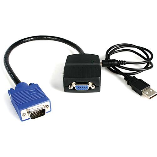 StarTech 2-Port VGA Video Splitter (Black, USB Powered)