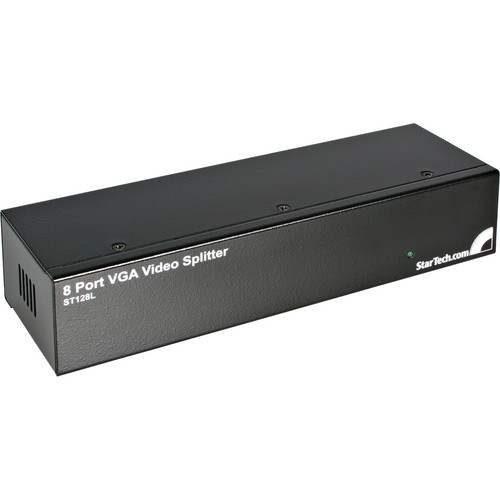 StarTech ST128L 8 Port VGA Video Splitter (250 MHz, Black)