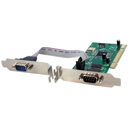 StarTech 2-Port PCI RS232 Serial Adapter Card with 16950 UART (Dual Voltage)