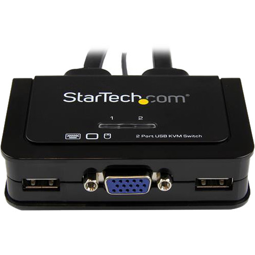 StarTech 2 Port USB VGA Cable Kvm Switch - USB Powered With Remote Switch