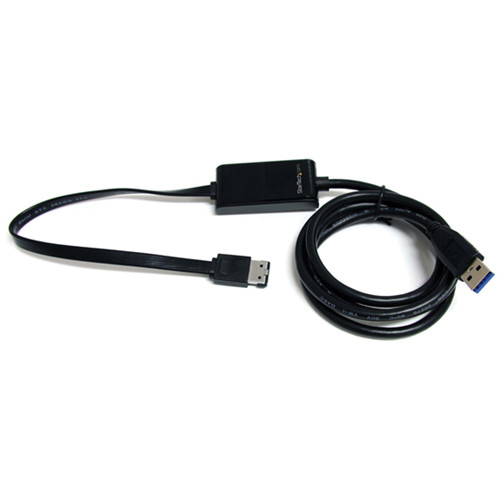 StarTech 3' SuperSpeed USB 3.0 to eSATA Cable Adapter (Black)