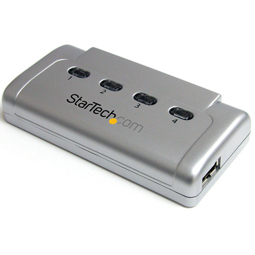 StarTech 4-to-1 USB 2.0 Peripheral Sharing Switch (Silver)