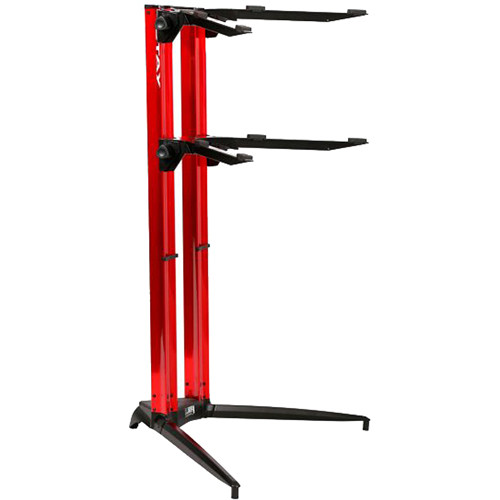 STAY 1200-02 Tower Double-Tier Keyboard Stand (Red)