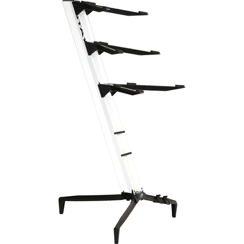 STAY Tower Series 46 Triple-Tier Keyboard Stand (White)