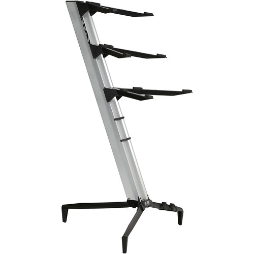 STAY Tower Series 46 Triple-Tier Keyboard Stand (Silver)