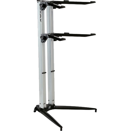 STAY Piano Series 44 Double-Tier Keyboard Stand (Silver)