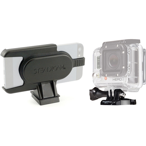Steadicam GoPro HERO and iPhone 5/5s/SE Mounts for Smoothee